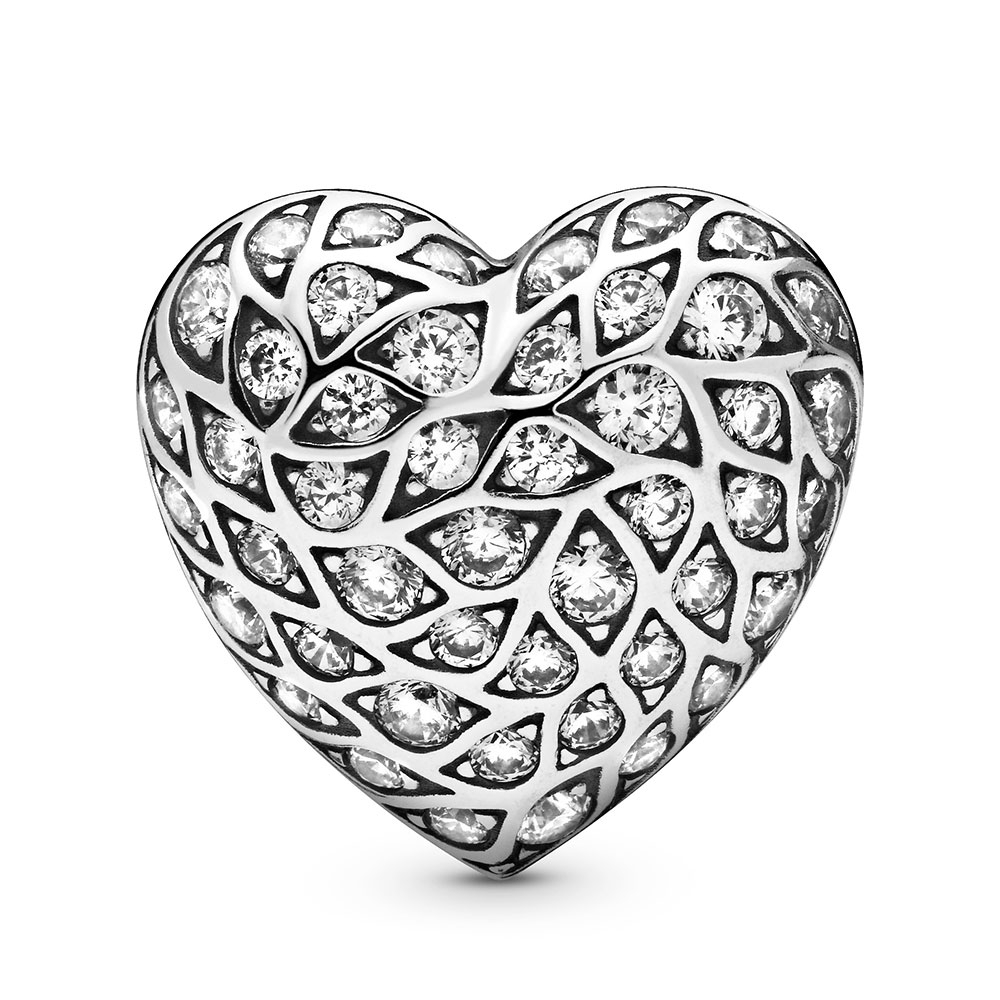 Pandora Limited Edition Sparkling Pattern Heart Single Cz Stud Earring Inside Newest Sparkling Pattern Rings (View 14 of 25)