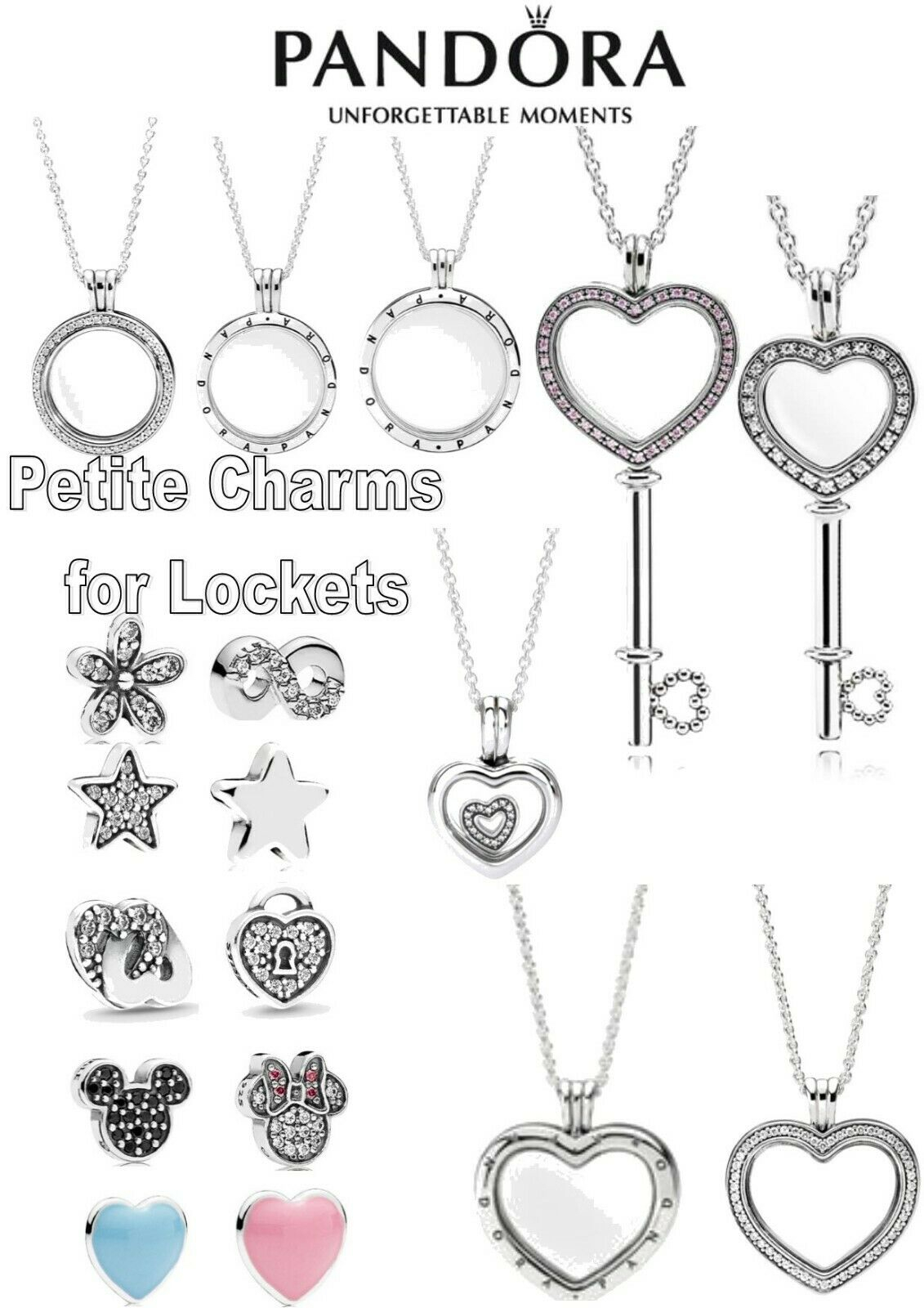 Pandora Locket Necklaces – Sold With 1 Free Petite Charm – S925 Ale Inside Newest Pandora Lockets Logo Necklaces (View 17 of 25)