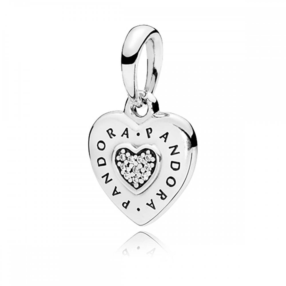Pandora Logo Heart Necklace Pendant With Most Current Pandora Lockets Logo Necklaces (View 17 of 25)