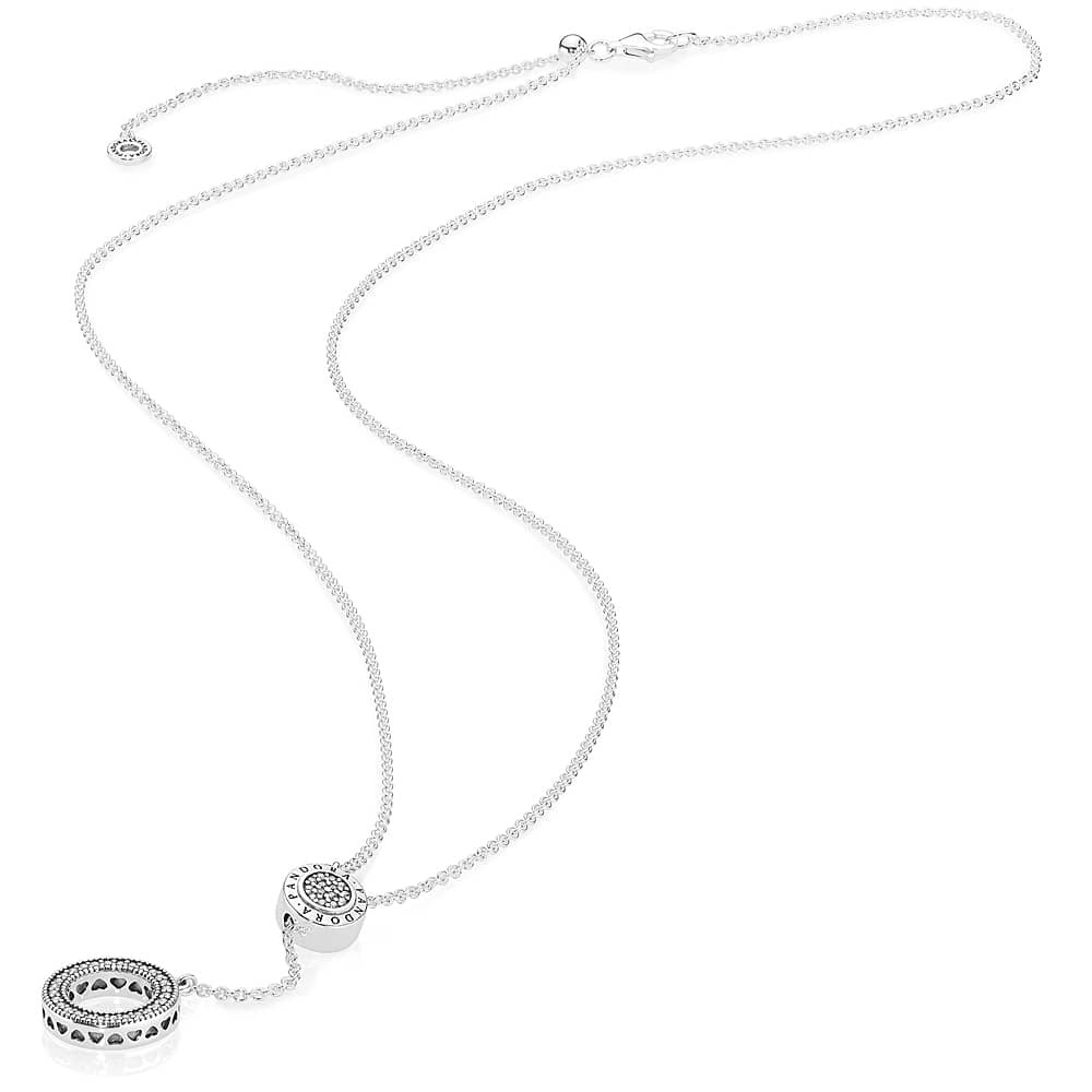 Pandora Logo Necklace 397445Cz With Most Recently Released Pandora Logo Pavé Pendant Necklaces (View 10 of 25)
