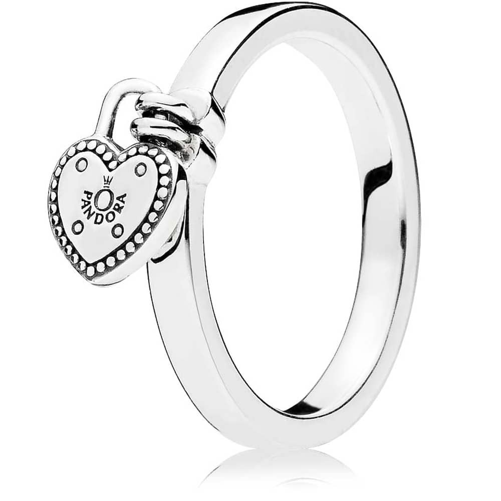 Pandora Love Lock Ring 196571 Within Most Up To Date Heart Shaped Padlock Rings (View 2 of 25)