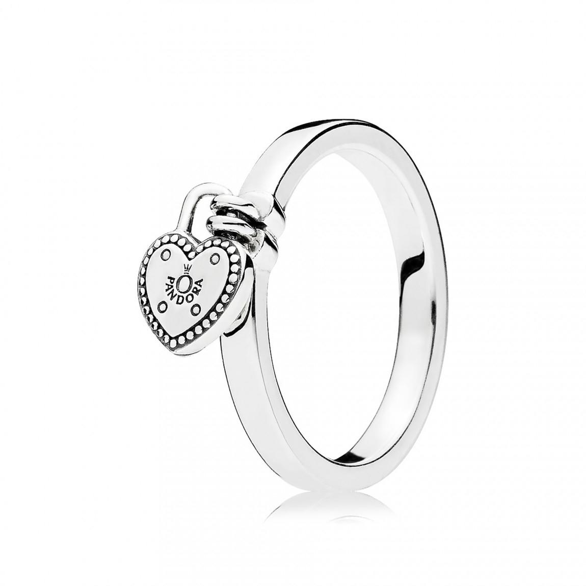 "Pandora ""love Lock"" Ring Pertaining To Latest Heart Shaped Pandora Logo Rings (View 4 of 25)"
