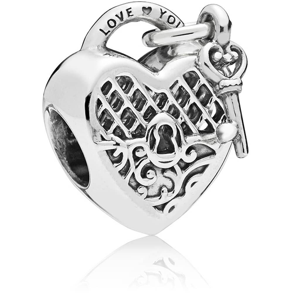 Pandora Love You Lock Charm 797655 Intended For Newest Heart Shaped Padlock Rings (View 19 of 25)