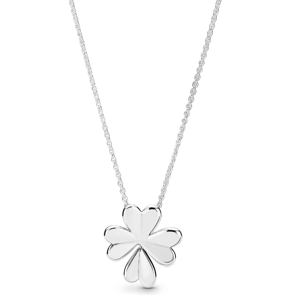 Pandora Lucky Four Leaf Clover Necklace 397925 With Regard To Newest Lucky Four Leaf Clover Y  Necklaces (View 21 of 25)