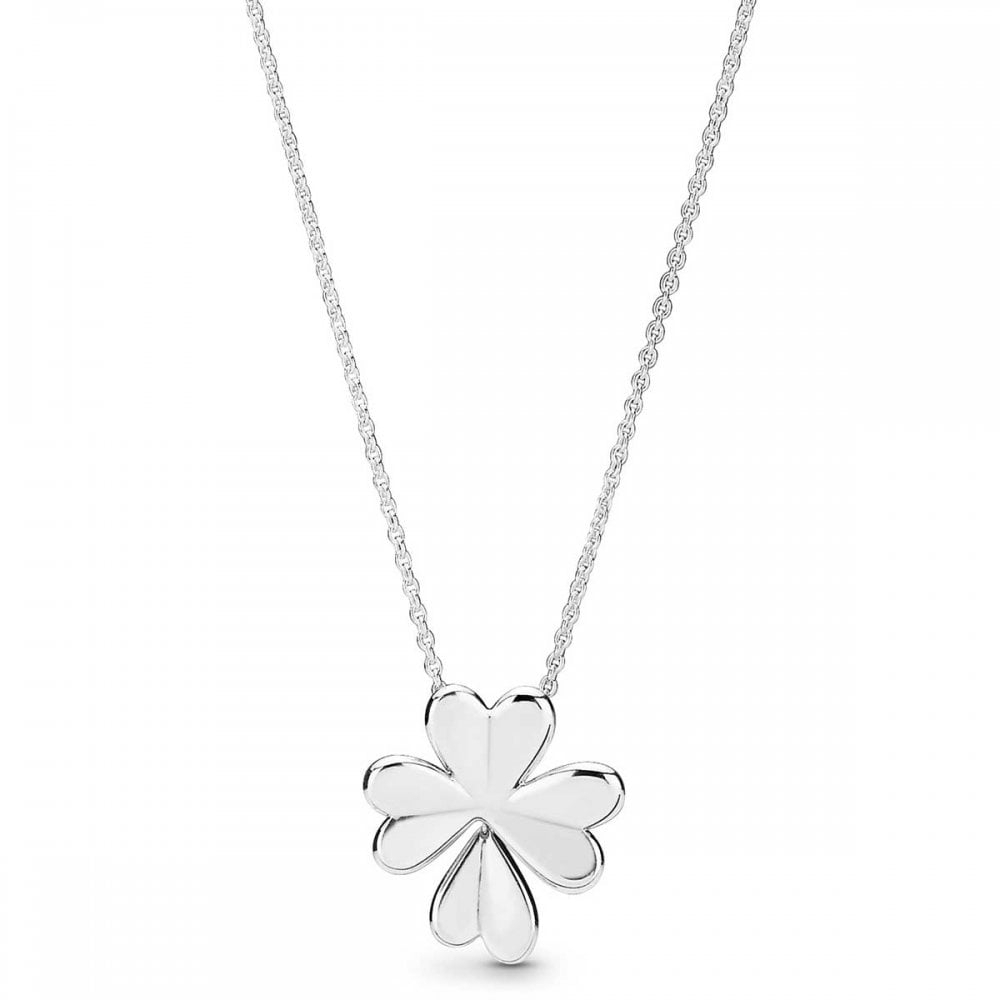 Pandora Lucky Four Leaf Clover Necklace – Jewellery From Francis Intended For Recent Lucky Four Leaf Clover Pendant Necklaces (View 7 of 25)