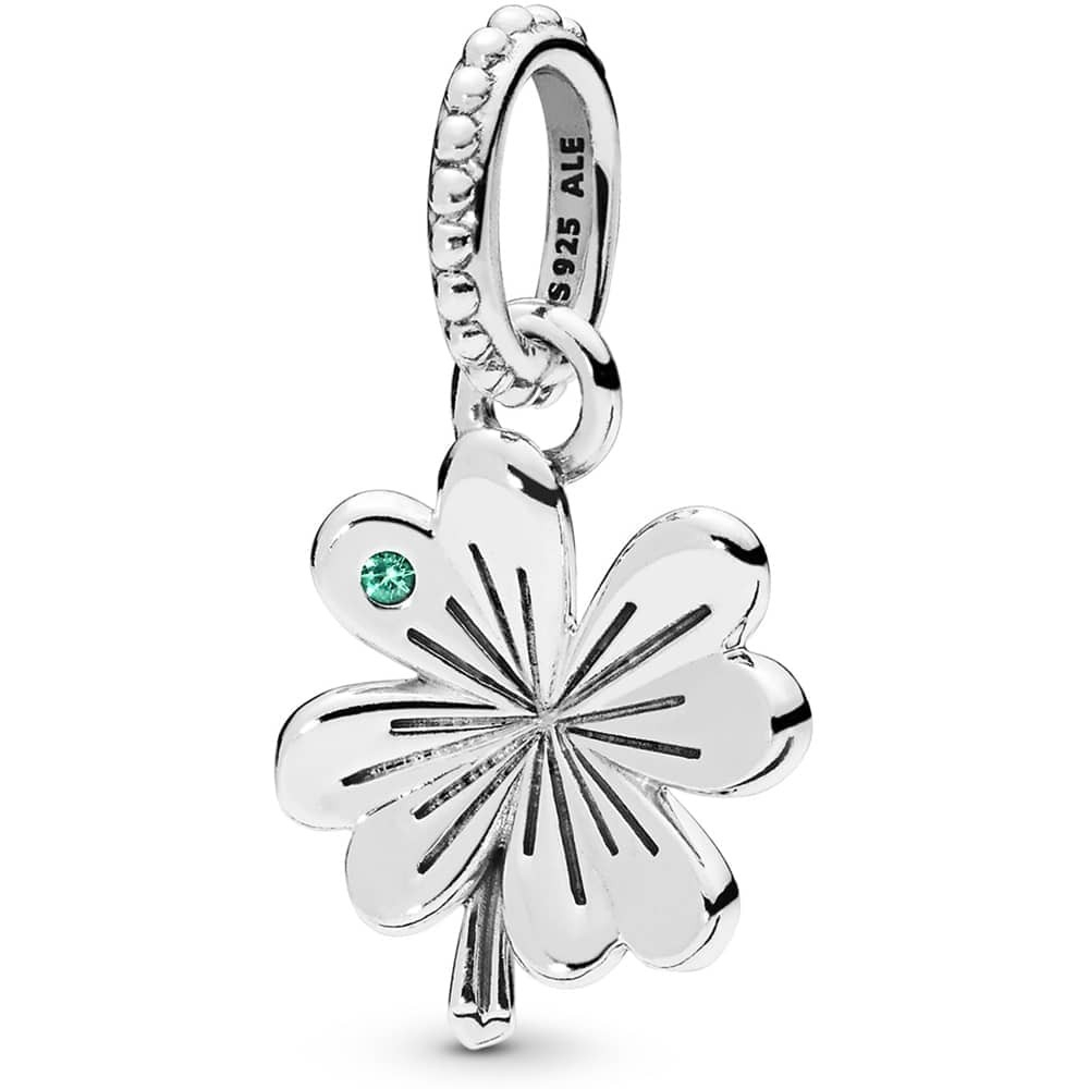 Pandora Lucky Four Leaf Clover Pendant 397965nag | The Jewel Hut Regarding Newest Lucky Four Leaf Clover Pendant Necklaces (View 16 of 25)