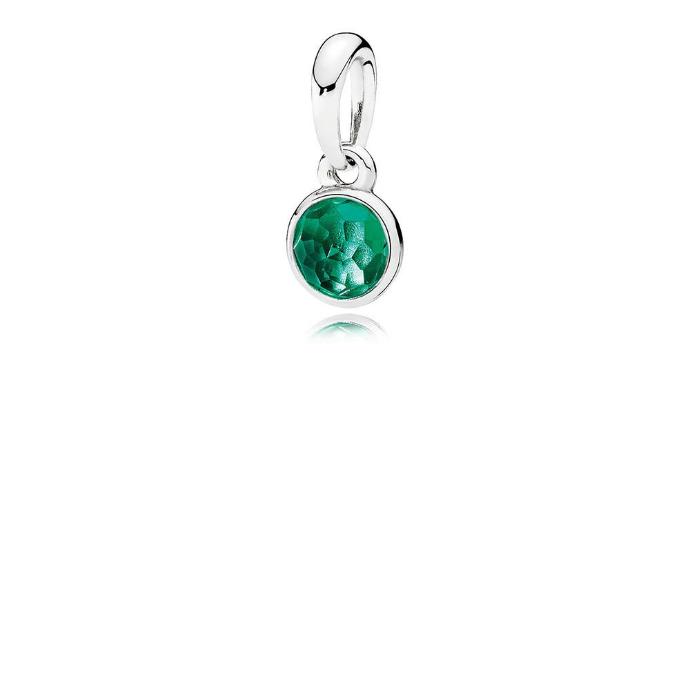 Featured Photo of Royal Green Crystal May Droplet Pendant Necklaces