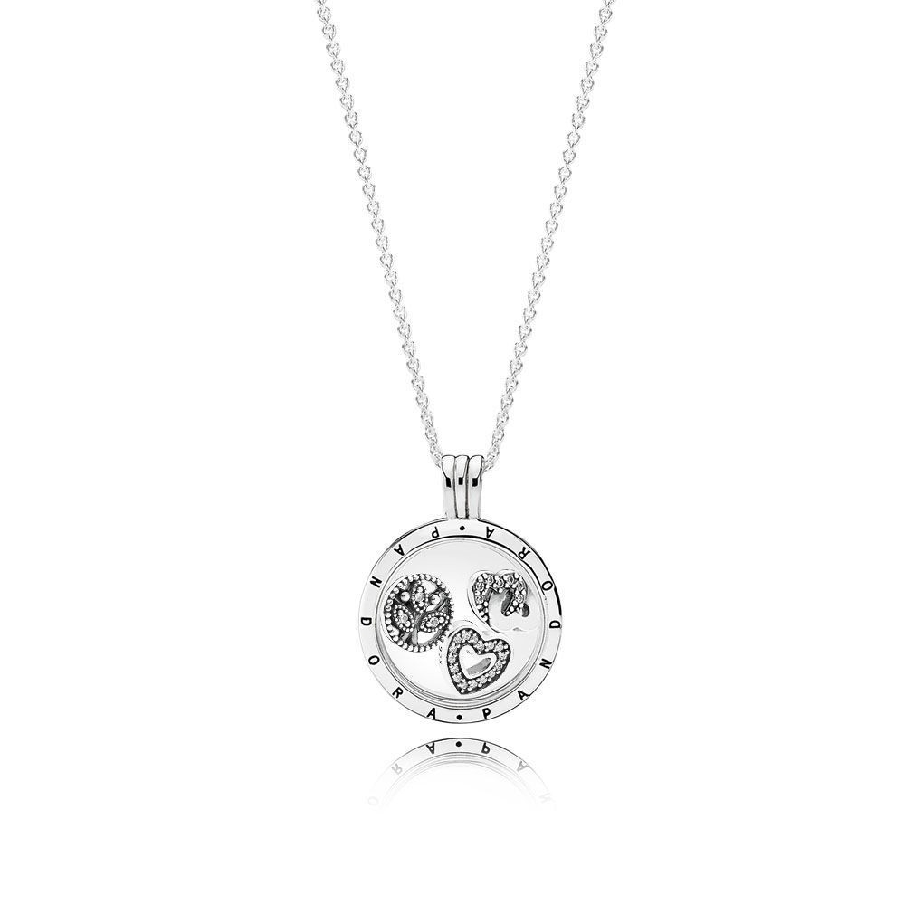 """Pandora Medaillon """"familien"""" Set With Most Up To Date Ampersand Alphabet Locket Element Necklaces (View 15 of 25)"""