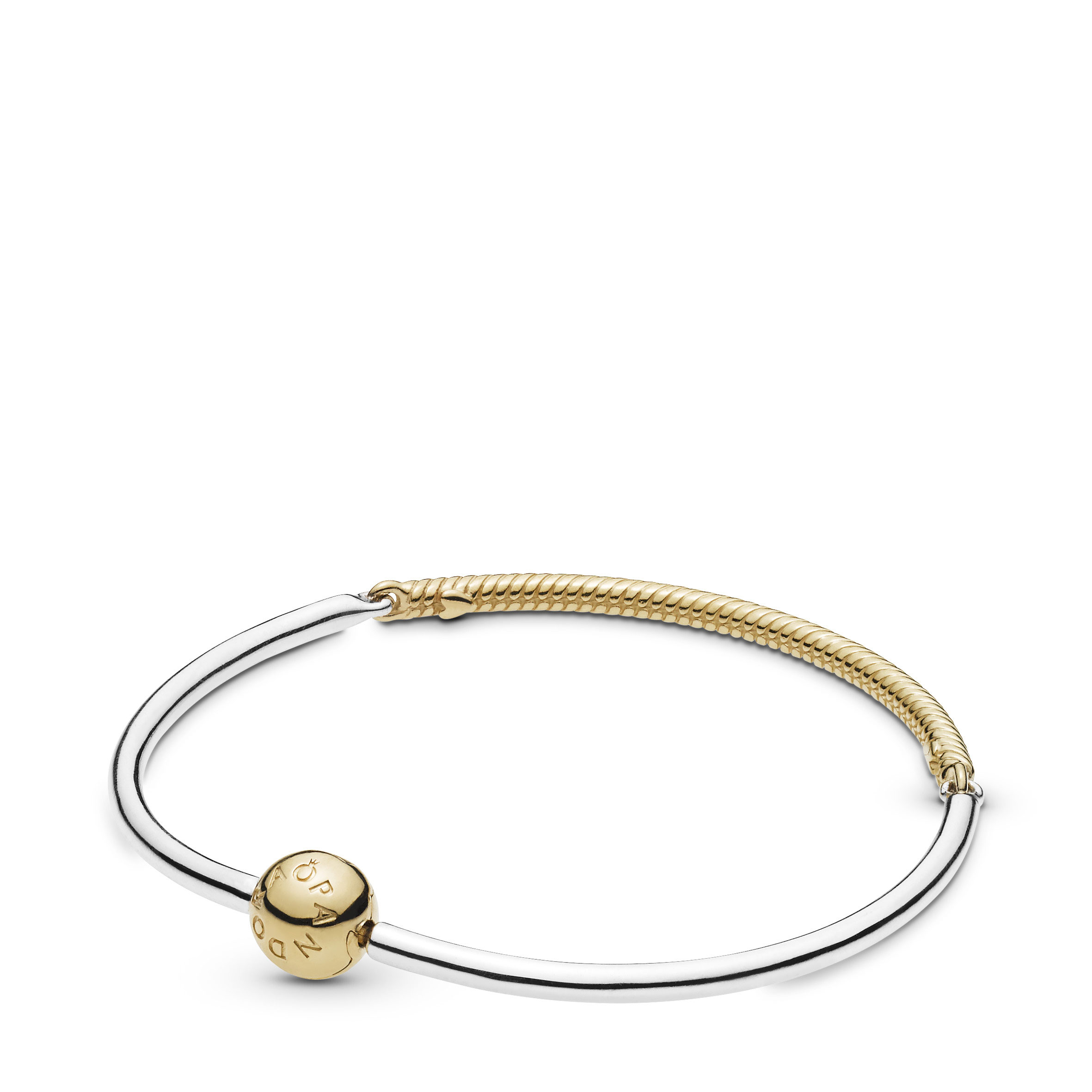 Pandora Moments Three Link Pandora Shine™ Bangle Bracelet Intended For 2019 Pandora Moments Snake Chain Necklaces (Gallery 24 of 25)
