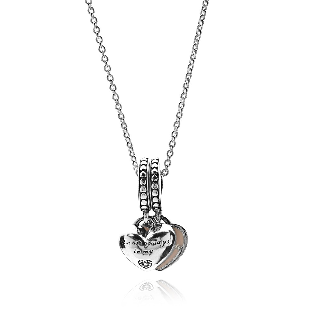 Pandora Mother And Daughter Hearts Complete Necklace Cn110 Within Newest Hearts Of Pandora Necklaces (View 17 of 25)