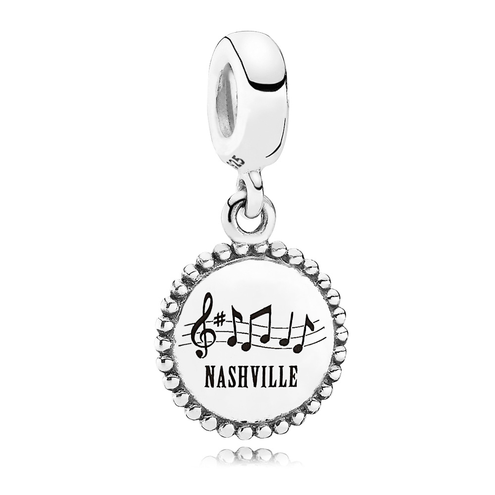 Pandora Nashville Traveler Dangle 347508 [Pandora Charms 7911Cz Throughout Most Up To Date Pandora Lockets Logo Dangle Charm Necklaces (Gallery 25 of 25)