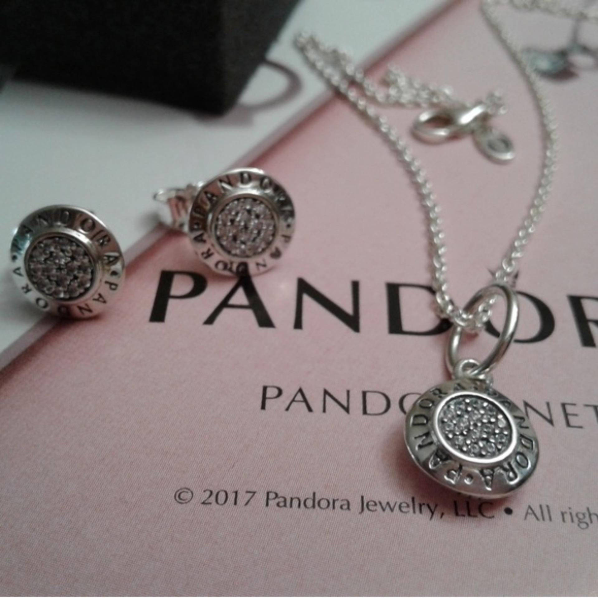 Pandora Necklace And Earrings Set Intended For 2019 Pandora Moments Small O Pendant Necklaces (View 13 of 25)