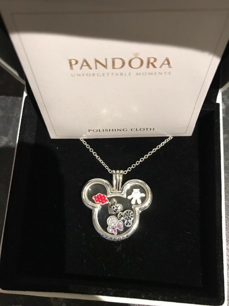 Pandora Necklace Locket | In Norwich, Norfolk | Gumtree Pertaining To Most Recent Disney Sparkling Mickey Icon Petite Locket Charm Necklaces (View 17 of 25)