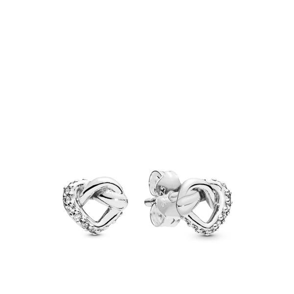 Pandora Ohrstecker Knotted Hearts Intended For 2018 Knotted Hearts Rings (Gallery 19 of 25)