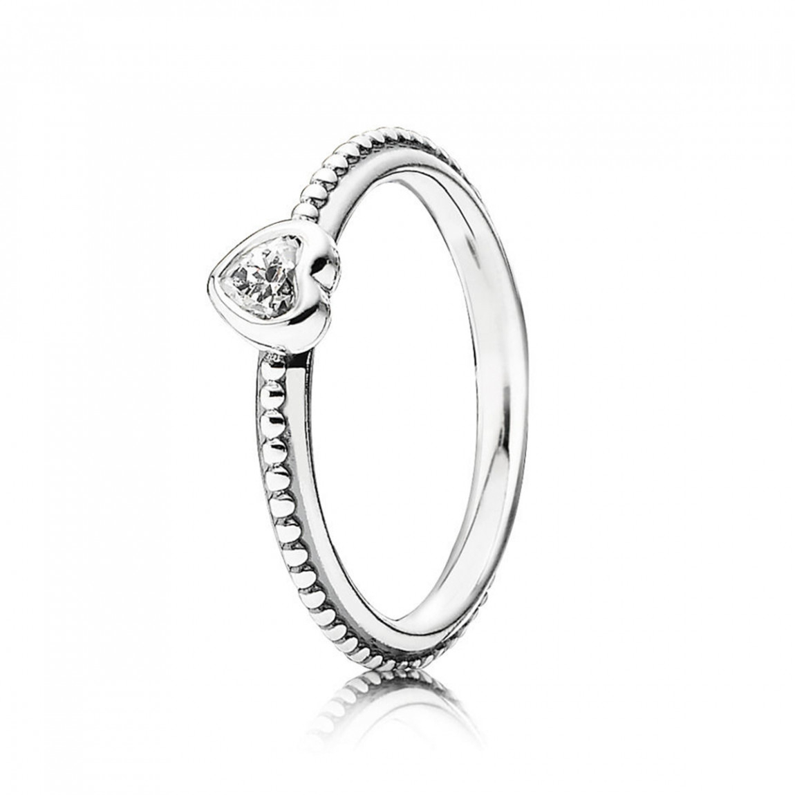 Pandora One Love Ring, Clear Cz In 2018 Clear Heart Beaded Rings (View 7 of 25)