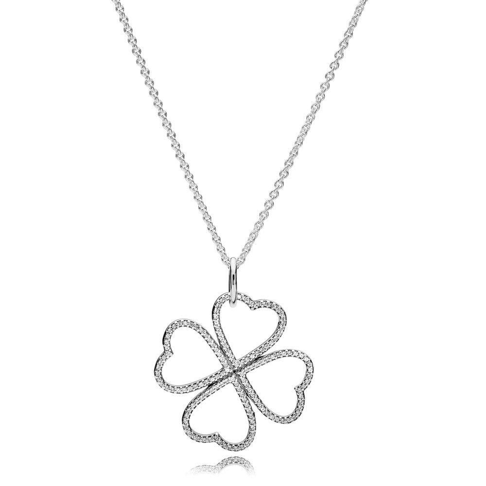 Pandora Petals Of Love Necklace Pendant Jsp1197 With Pave Cz Throughout Best And Newest Pandora Logo Pavé Pendant Necklaces (View 16 of 25)