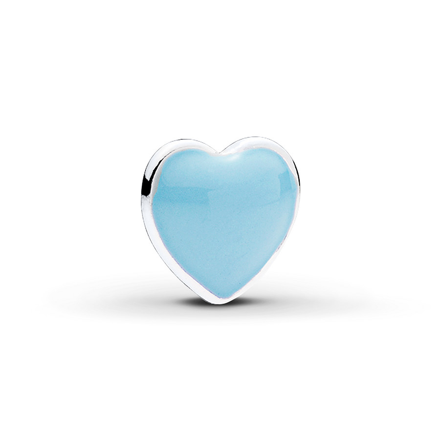 Pandora Petite Charm Blue Heart Sterling Silver In Most Recently Released Baby Blue Enamel Blue Heart Petite Locket Charm Necklaces (Gallery 1 of 25)