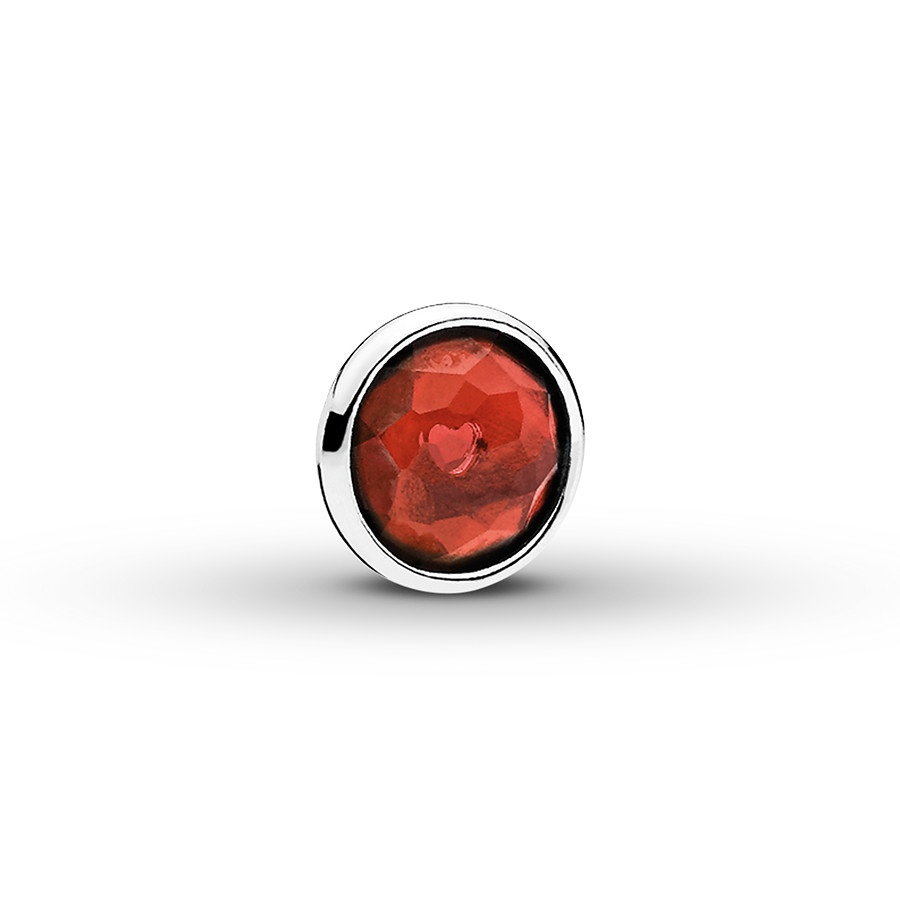 Pandora Petite Locket Charm January Droplet Sterling Silver For Current Garnet January Droplet Pendant Necklaces (View 5 of 25)