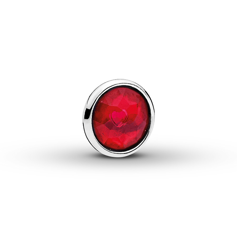 Pandora Petite Locket Charm July Droplet Sterling Silver In Best And Newest July Droplet Pendant, Synthetic Ruby Necklaces (View 10 of 25)