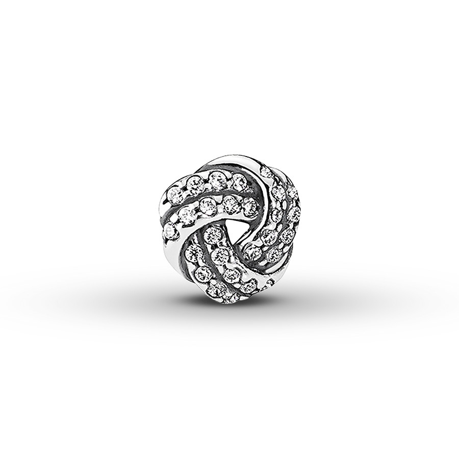 Pandora Petite Locket Charm Sparkling Love Knot Sterling Silver For Most Up To Date Love & Family Petite Locket Charms Necklaces (View 11 of 25)