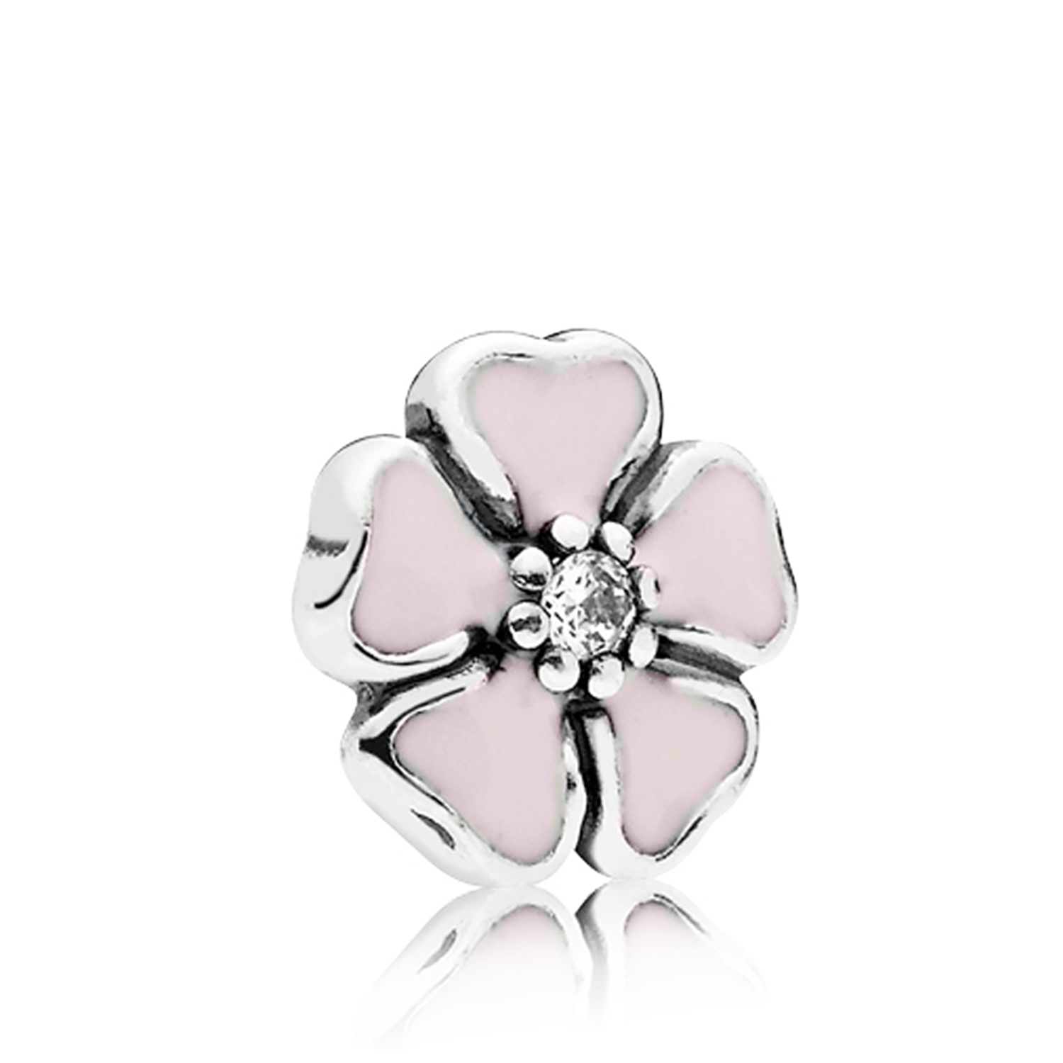 Pandora Petite Locket Cherry Blossom Enamel & Cz Charm With Latest Pink Cherry Blossom Flower Locket Element Necklaces (Gallery 17 of 25)