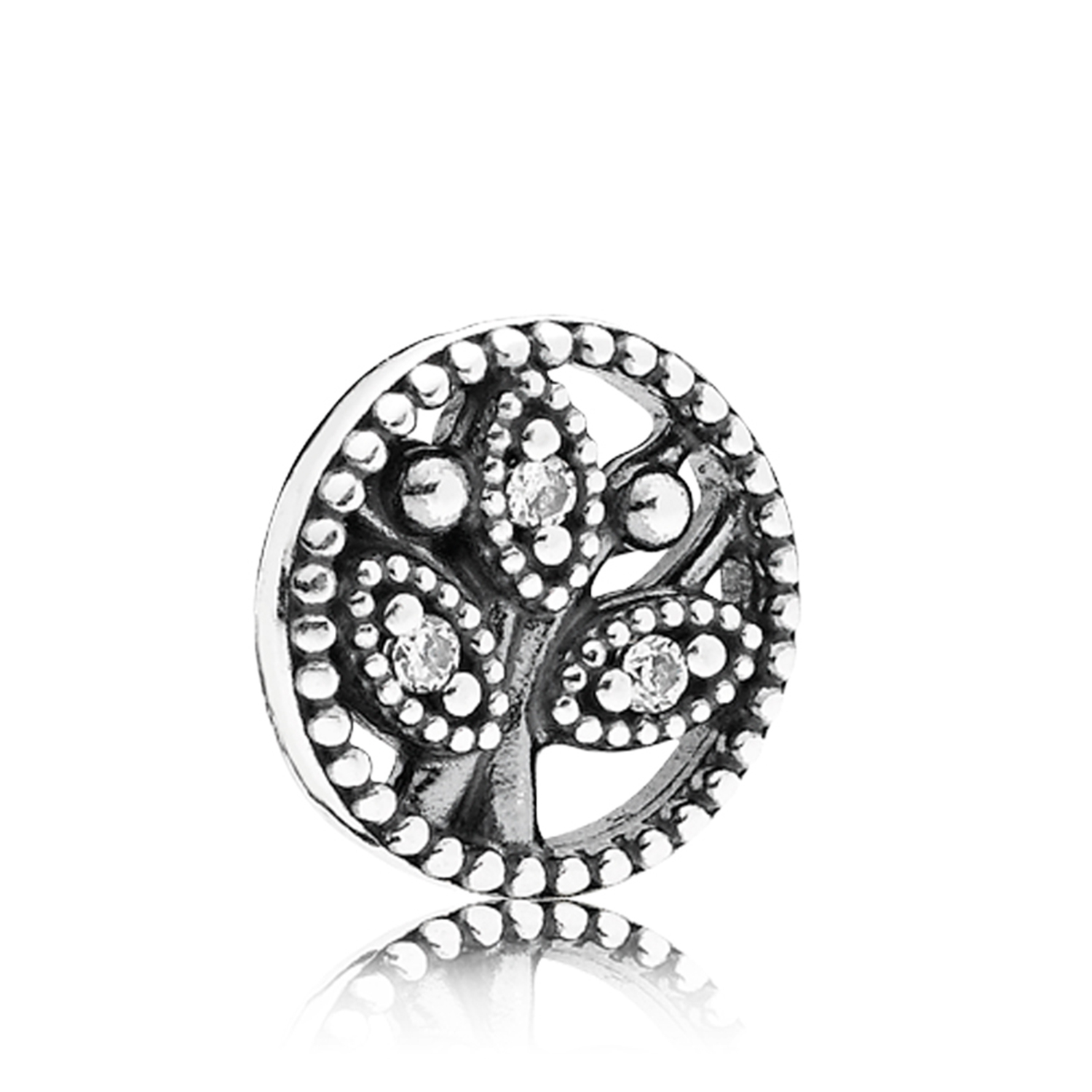 Pandora Petite Locket Cz Family Tree Charm Intended For Most Current Love & Family Petite Locket Charms Necklaces (View 16 of 25)