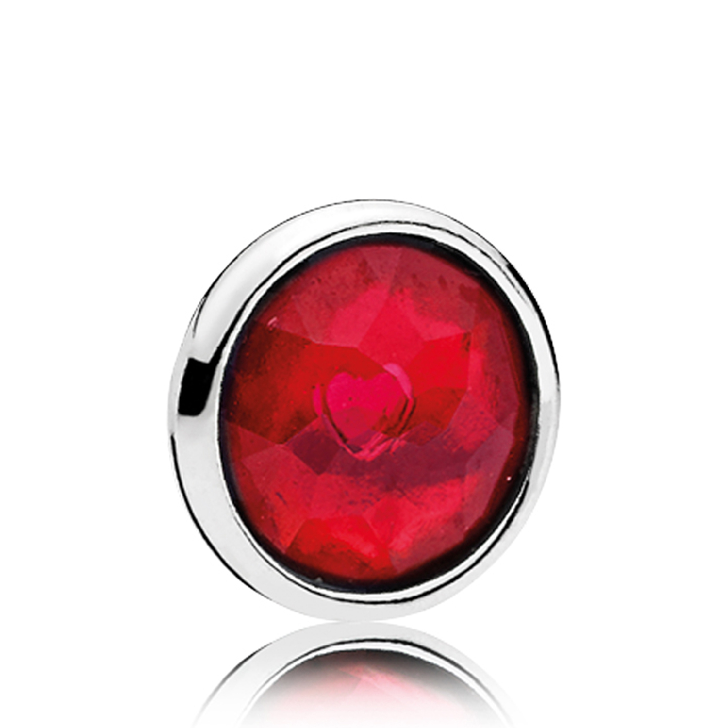 Pandora Petite Locket July Droplet Charm For 2019 July Droplet Pendant, Synthetic Ruby Necklaces (View 6 of 25)