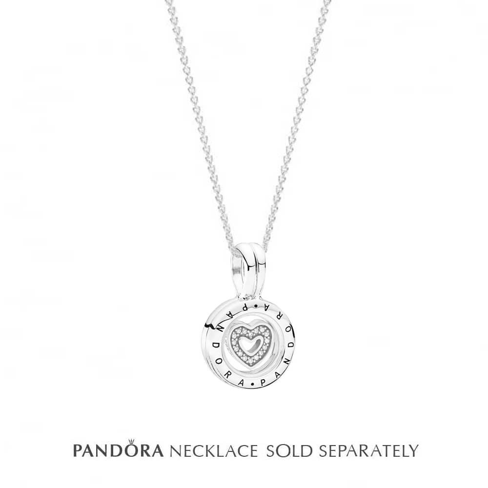 Pandora Petite Memories Floating Locket And Charm 792144cz For Current Pandora Lockets Logo Necklaces (View 9 of 25)