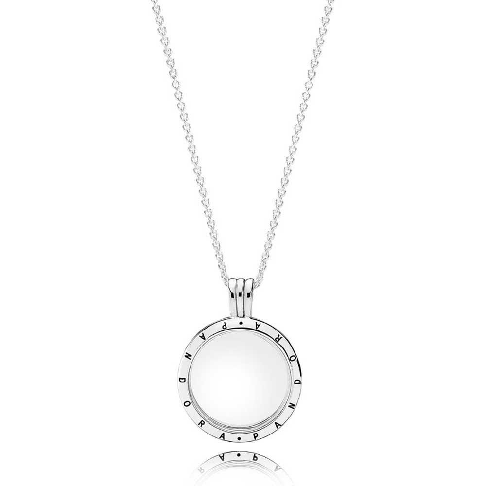 Pandora Petite Memories Floating Locket Medium Necklace 590529 60 Inside Most Recently Released Love & Family Petite Locket Charms Necklaces (View 9 of 25)