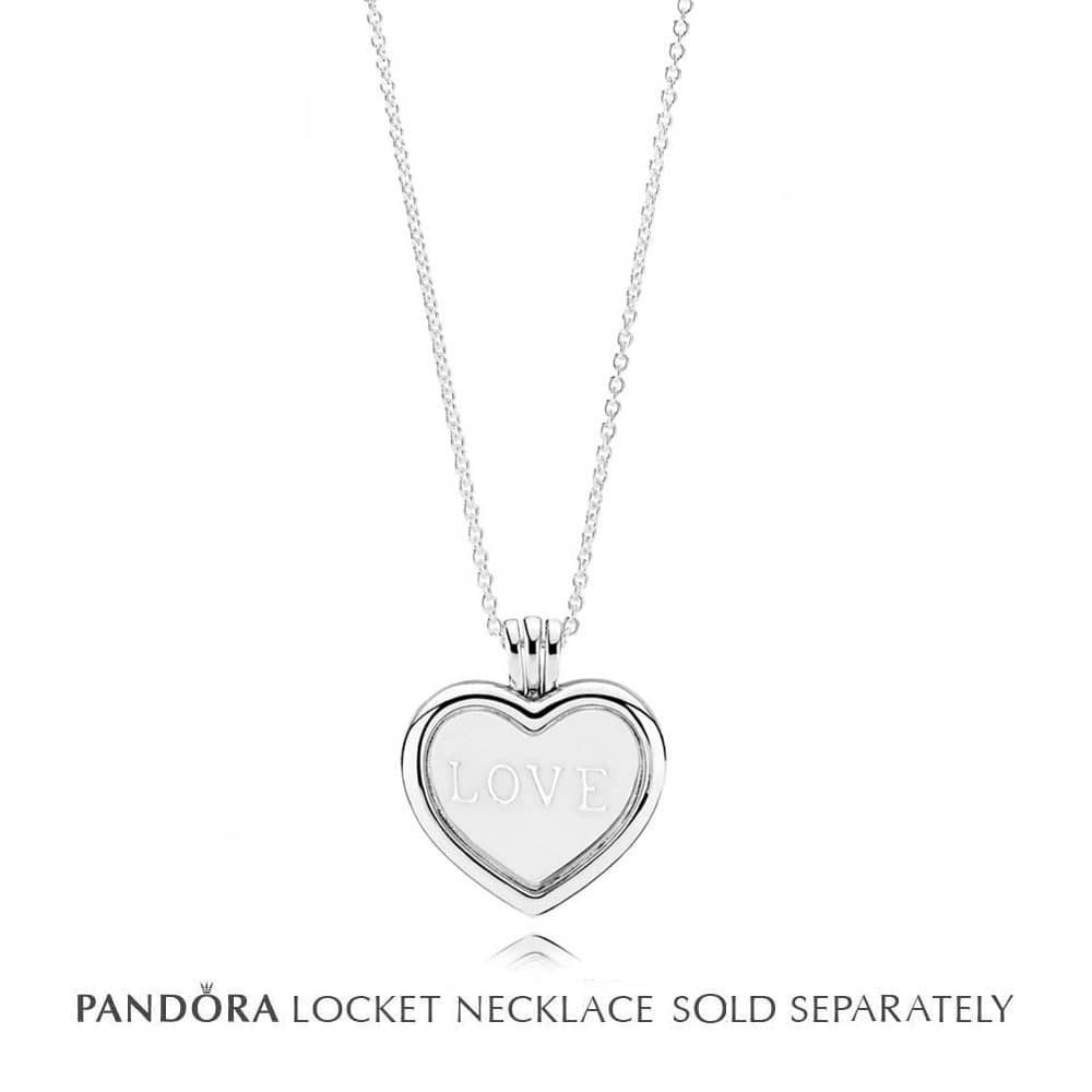 Pandora Petite Memories Medium Love Heart Plate Charm 792119en23 For Current Heart Locket Plate Necklaces (View 3 of 25)