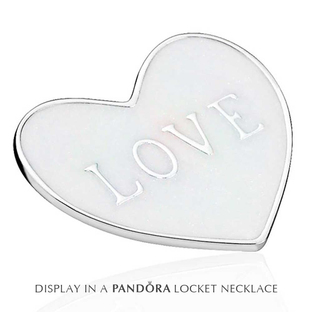 Pandora Petite Memories Medium Love Heart Plate Charm 792119En23 Within Current Heart Locket Plate Necklaces (View 16 of 25)