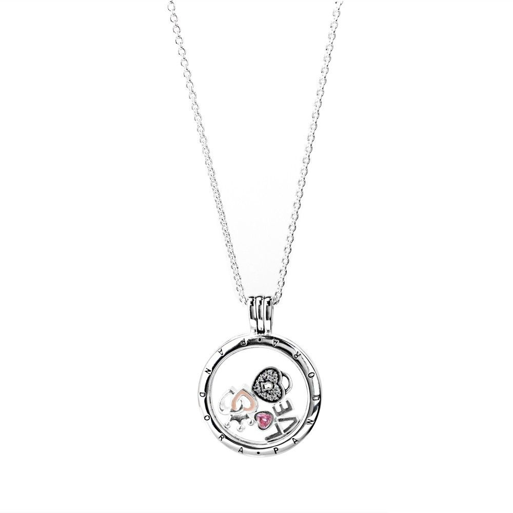 Pandora Petite Memories Medium Loving Hearts Locket Complete Intended For Recent Shimmering Knot Locket Element Necklaces (View 8 of 25)