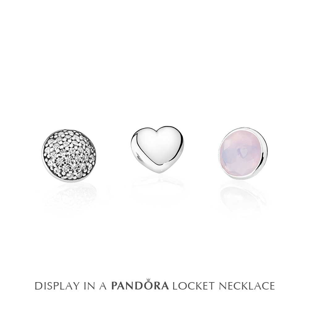 Pandora Petite Memories October Pink Crystal Birthstone Locket Charm Set 792091nop With Regard To Recent Pink October Birthstone Locket Element (View 18 of 25)