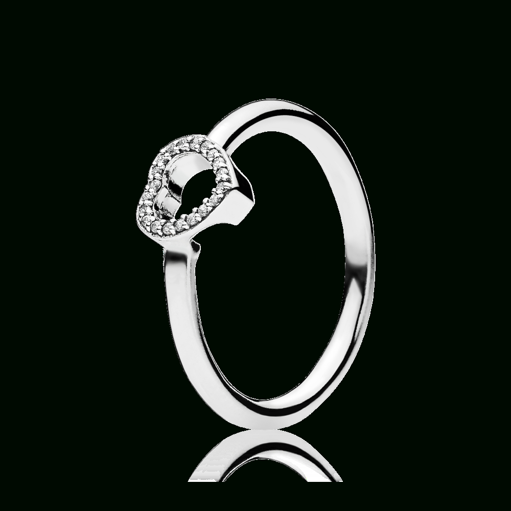 Pandora | Puzzle Heart Frame Ring, Clear Cz | Accessories | Rings Regarding Most Up To Date Pavé Puzzle Heart Rings (View 6 of 25)
