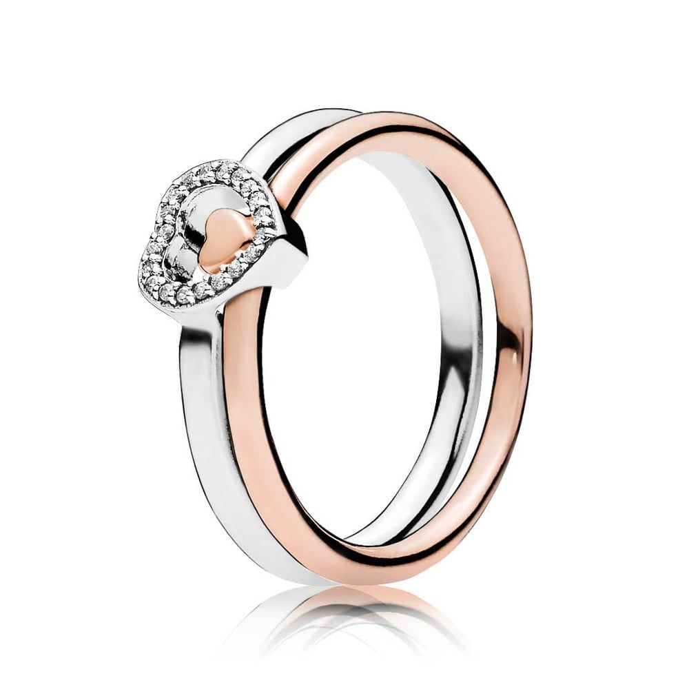 Pandora Puzzle Heart Ring Stack   Pandora Puzzle Heart Ring In 2019 Regarding Most Recently Released Polished Heart Puzzle Rings (View 2 of 25)