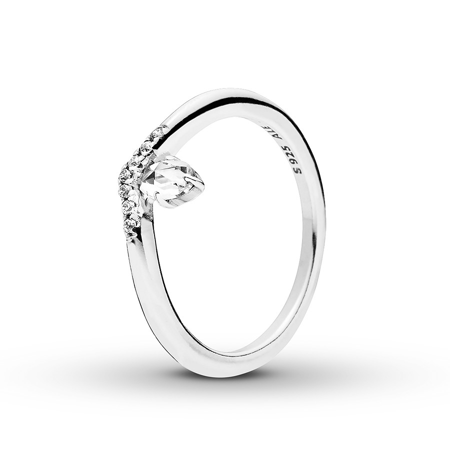 Pandora Ring Classic Wish Sterling Silver With Newest Sparkling Wishbone Rings (View 10 of 25)