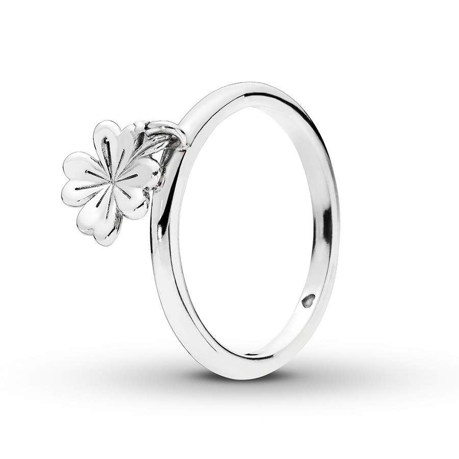 Pandora Ring Dangling Clover Sterling Silver For 2018 Dangling Four Leaf Clover Rings (View 21 of 25)
