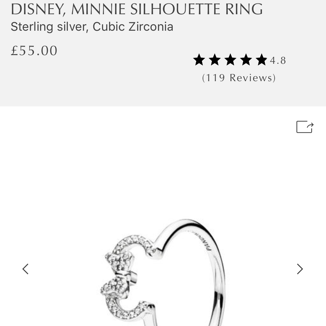 Pandora Ring. Disney Minnie Silhouette Ring. Brand – Depop Within Most Recently Released Disney Minnie Silhouette Rings (Gallery 5 of 25)