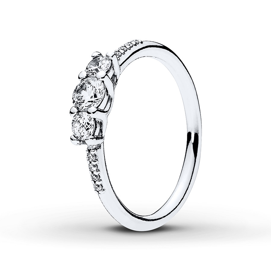 Pandora Ring Fairytale Sparkle Sterling Silver Pertaining To Most Current Clear Sparkling Crown Rings (View 7 of 25)