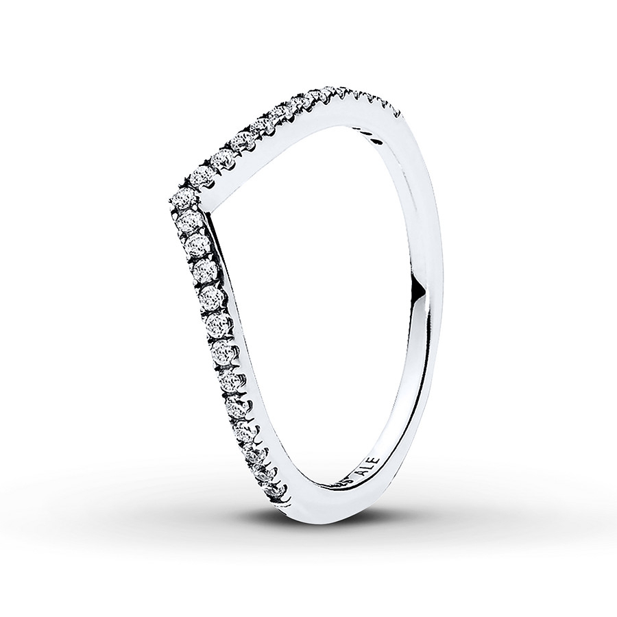 Pandora Ring Shimmering Wish Sterling Silver With Regard To Most Up To Date Tiara Wishbone Rings (View 18 of 25)