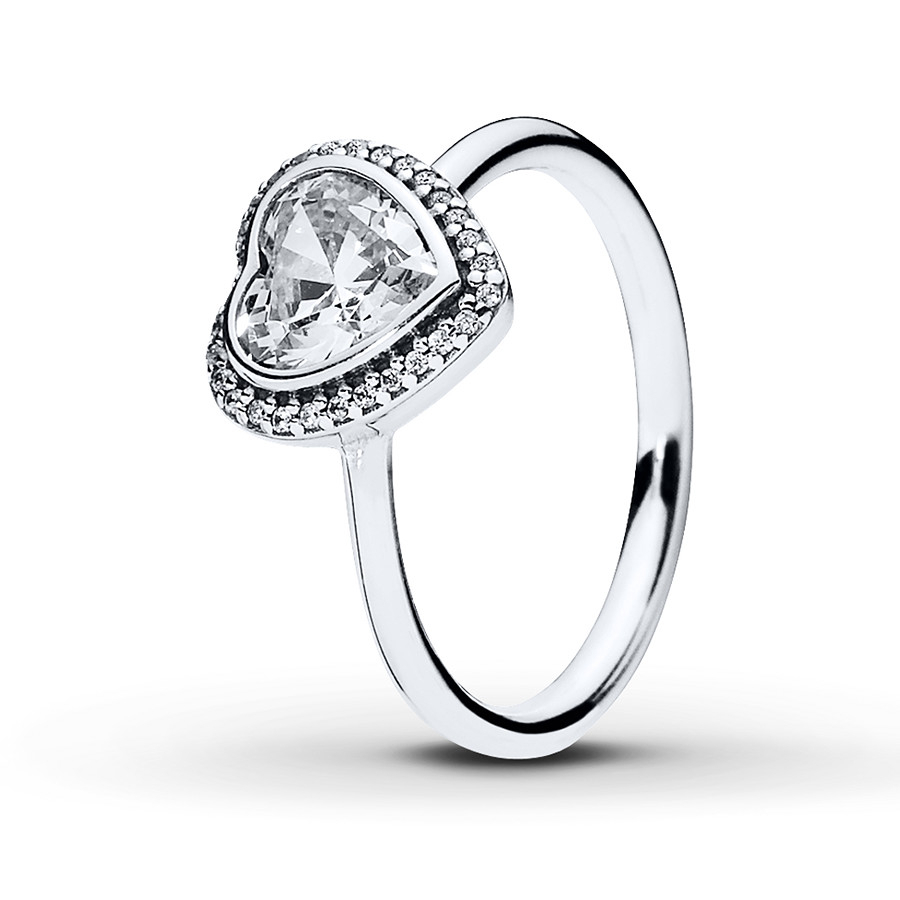 Pandora Ring Sparkling Love Sterling Silver Throughout Most Popular Sparkle & Hearts Rings (View 11 of 25)