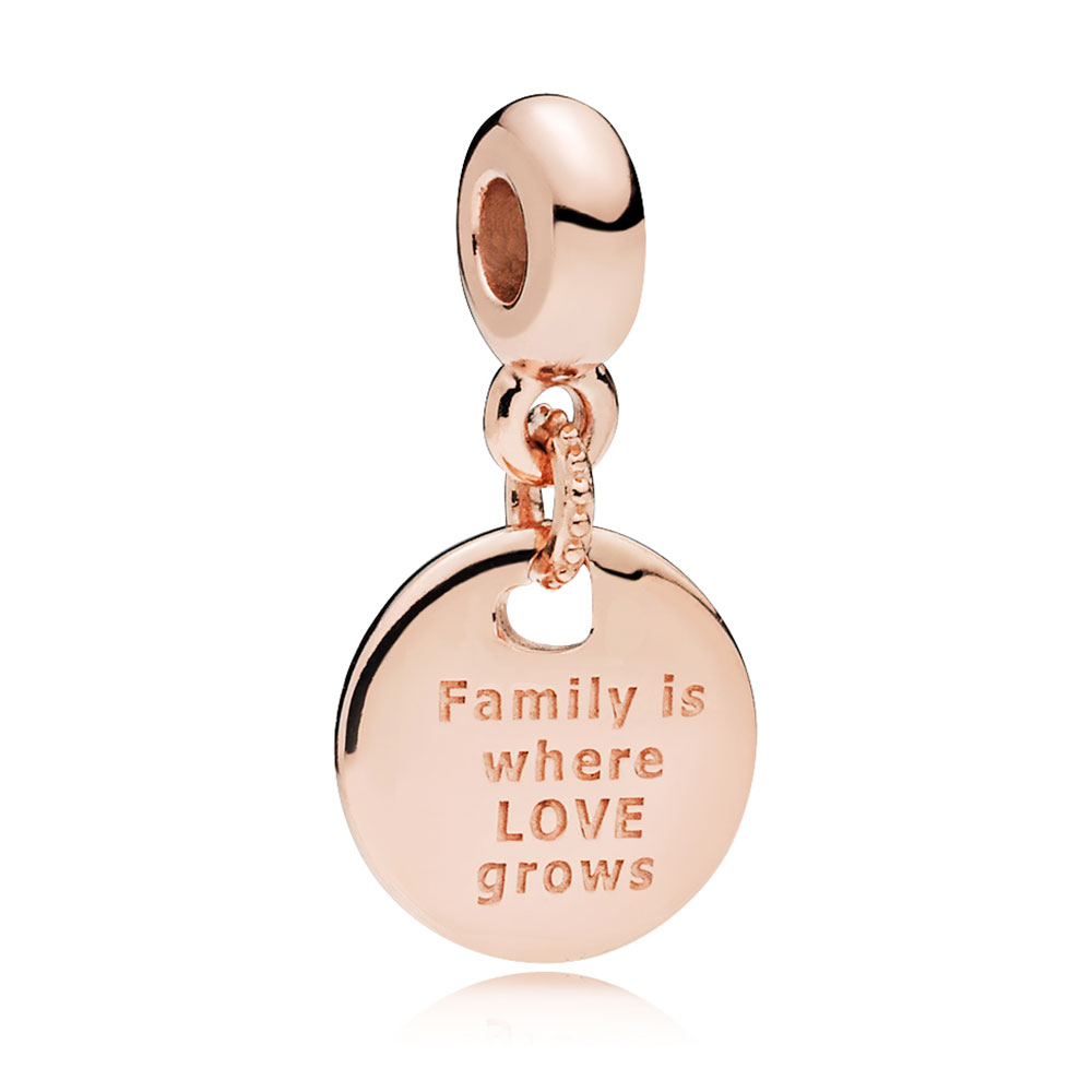 Pandora Rose™ Essence In My Heart – Family Roots Cz Dangle Charm With Newest Dangling Family Tree Rings (View 18 of 25)