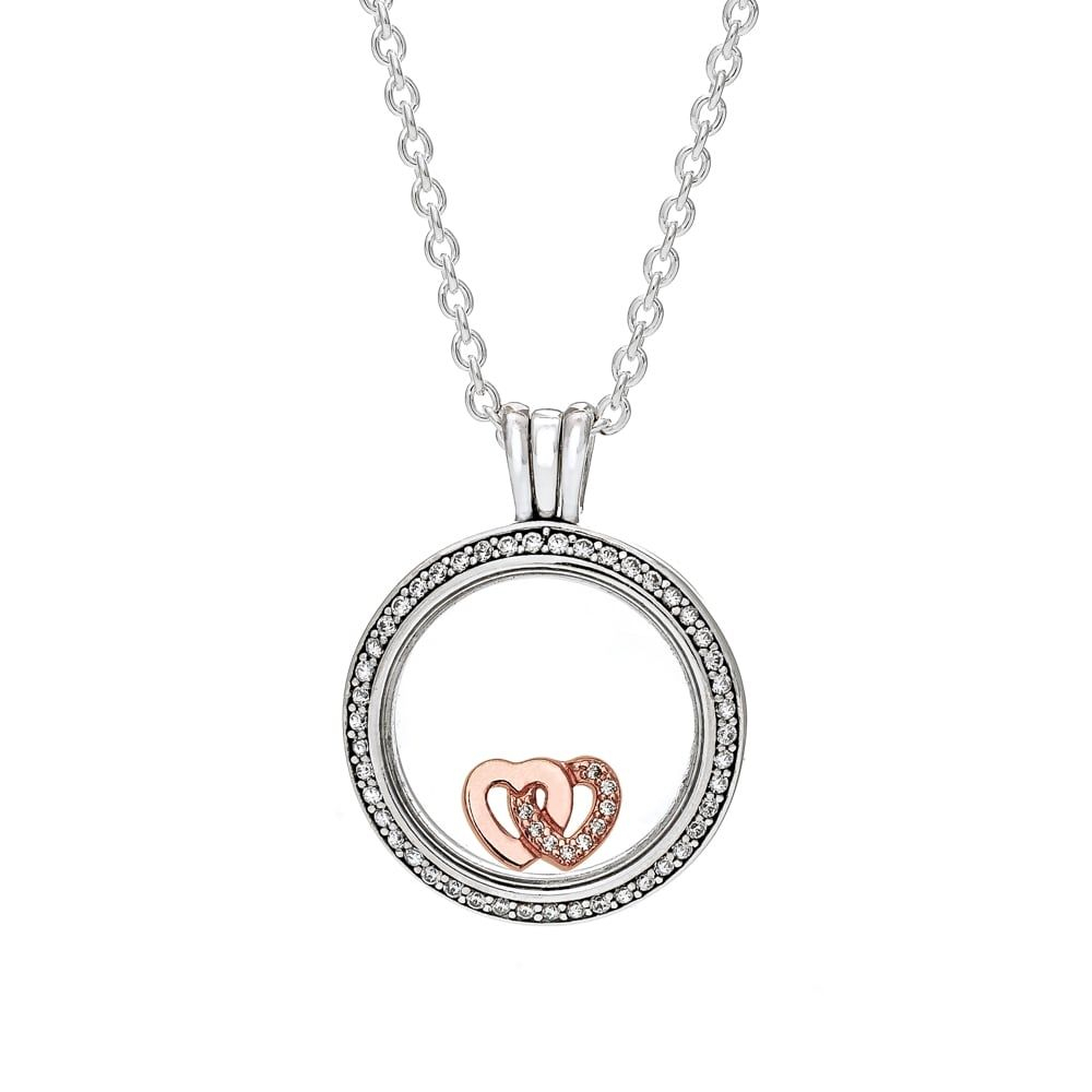 Featured Photo of Interlocked Hearts Locket Element Necklaces