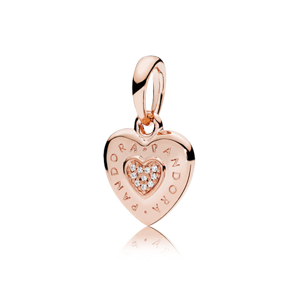 Pandora Rose Logo Heart Necklace Pendant [387376Cz] – $14.54 For Recent Pandora Logo Pendant Necklaces (Gallery 21 of 25)