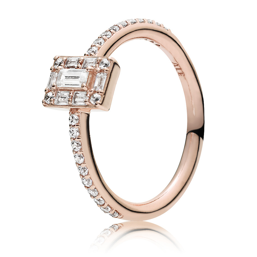 Pandora Rose™ Luminous Ice Ring 187541cz Clearance Regarding Current Sparkling Ice Cube Rings (View 12 of 25)