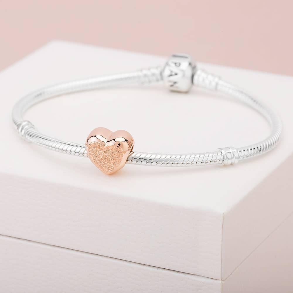 Pandora Rose Matte Brilliance Heart Charm 787881 Regarding Most Recent Matte Brilliance Heart Pendant Necklaces (View 19 of 25)