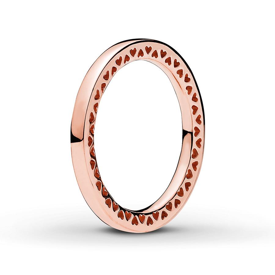 Pandora Rose Ring Classic Hearts Of Pandora Pertaining To 2018 Hearts & Pandora Logo Rings (View 19 of 25)