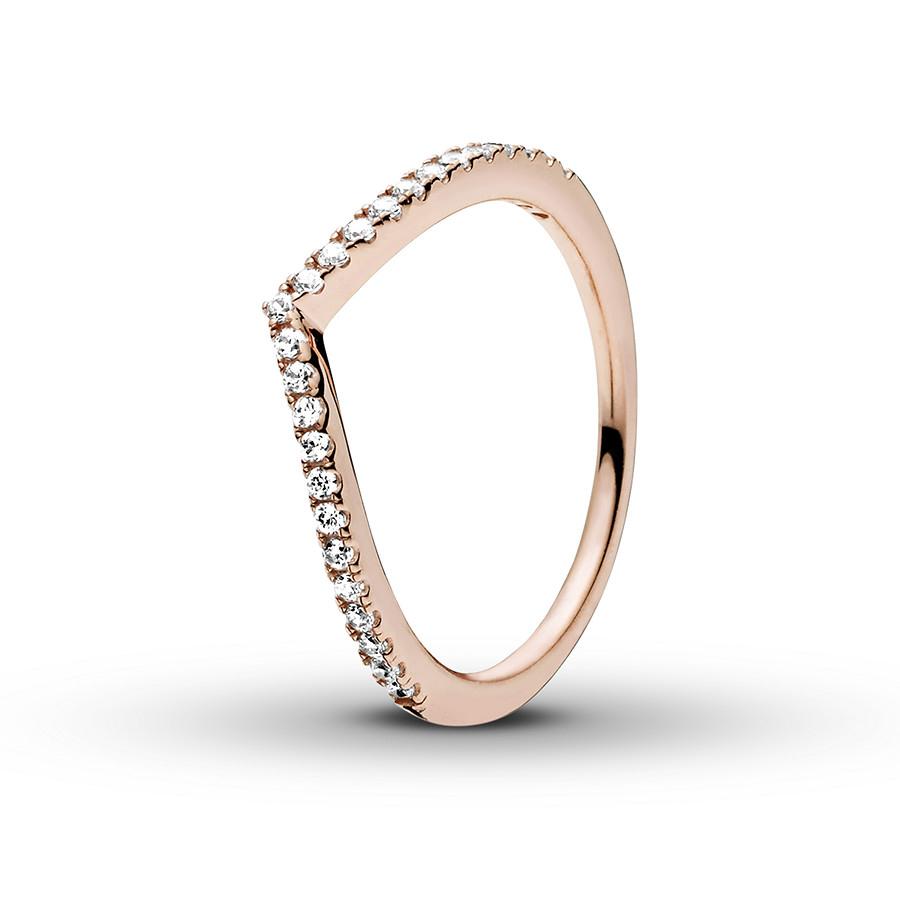 Pandora Rose Ring Shimmering Wish Pertaining To Current Sparkling Wishbone Rings (View 4 of 25)