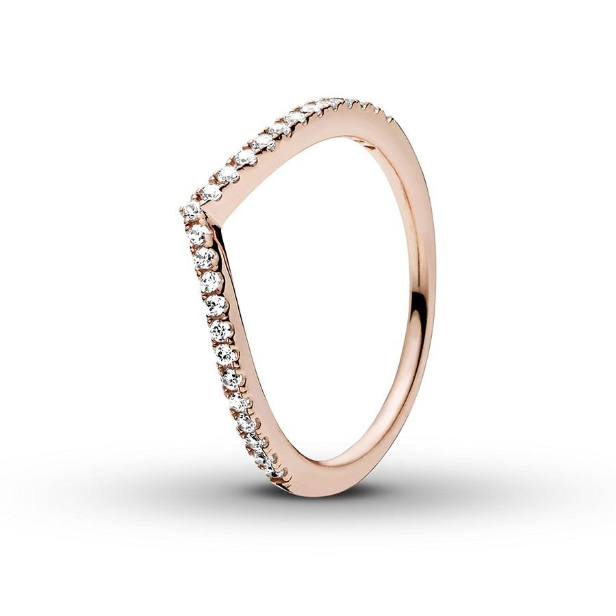 Pandora Rose Ring Shimmering Wish Throughout Most Popular Sparkling Wishbone Rings (View 4 of 25)