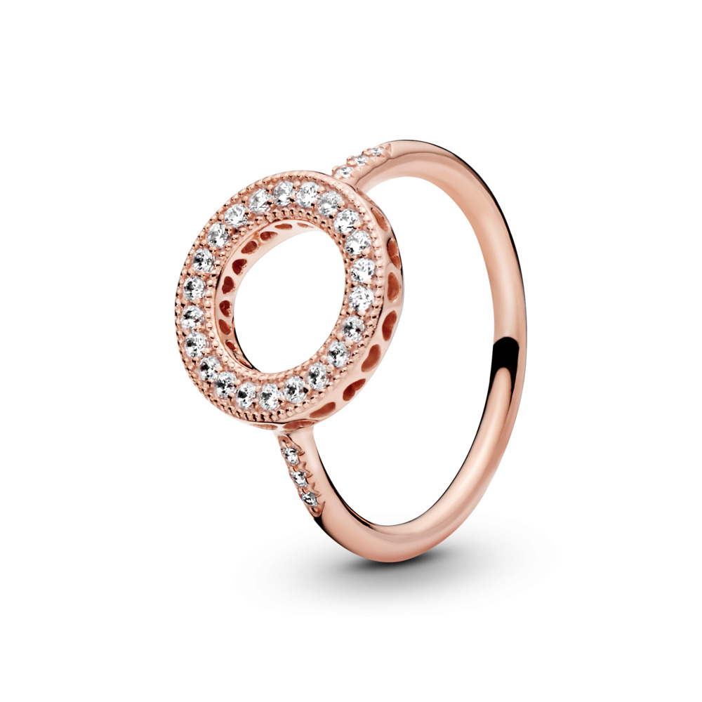 Pandora Rose™ Rings With Regard To Best And Newest Entwined Circles Pandora Logo & Sparkle Rings (View 10 of 25)
